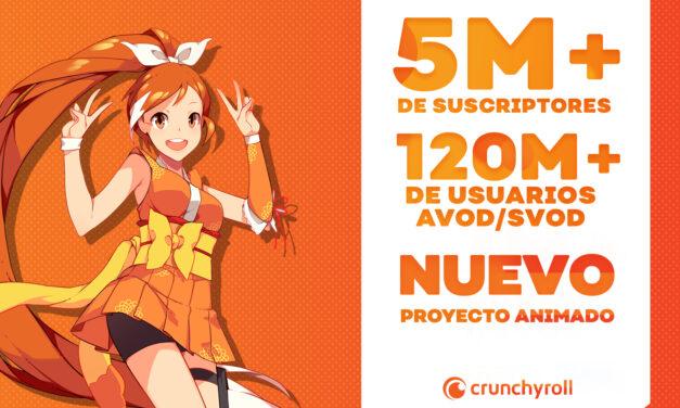 @crunchyroll_la arrasó los 5 millones de suscriptores y anuncia un nuevo proyecto animado!