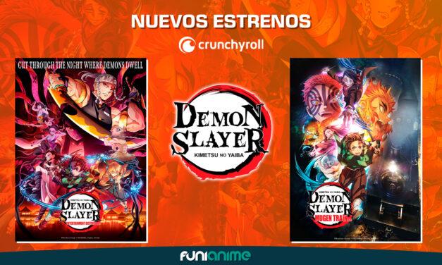 ¡Demon Slayer: Kimetsu no Yaiba Mugen Train Arc y Demon Slayer: Kimetsu no Yaiba Entertainment District Arc llegarán a Crunchyroll!