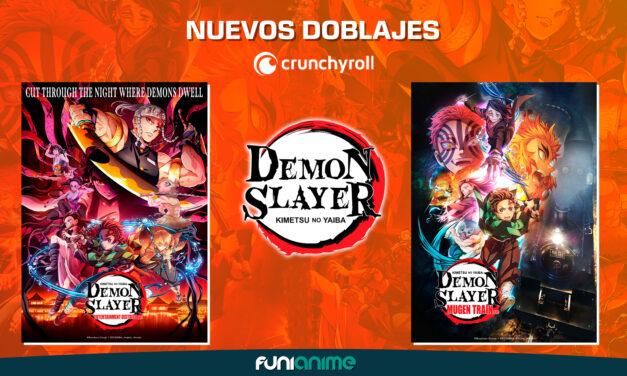 Demon Slayer primera temporada y Kimetsu no Yaiba the Movie: Mugen Train llegan con doblaje en latino en Crunchyroll