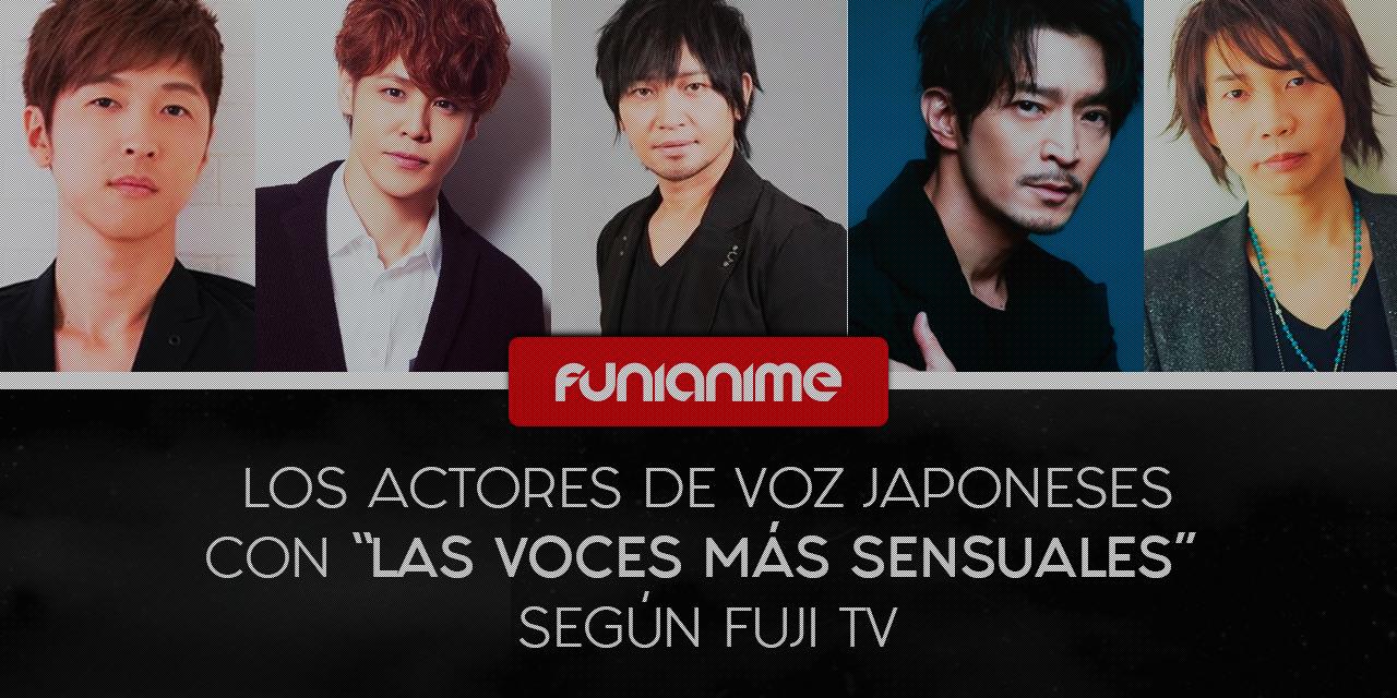 Estos son los actores de voz japoneses con 'las voces más sensuales' según Fuji TV